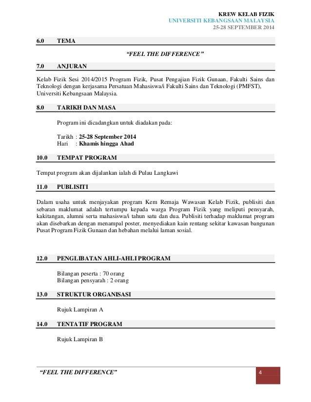 kertas kerja program awal remaja