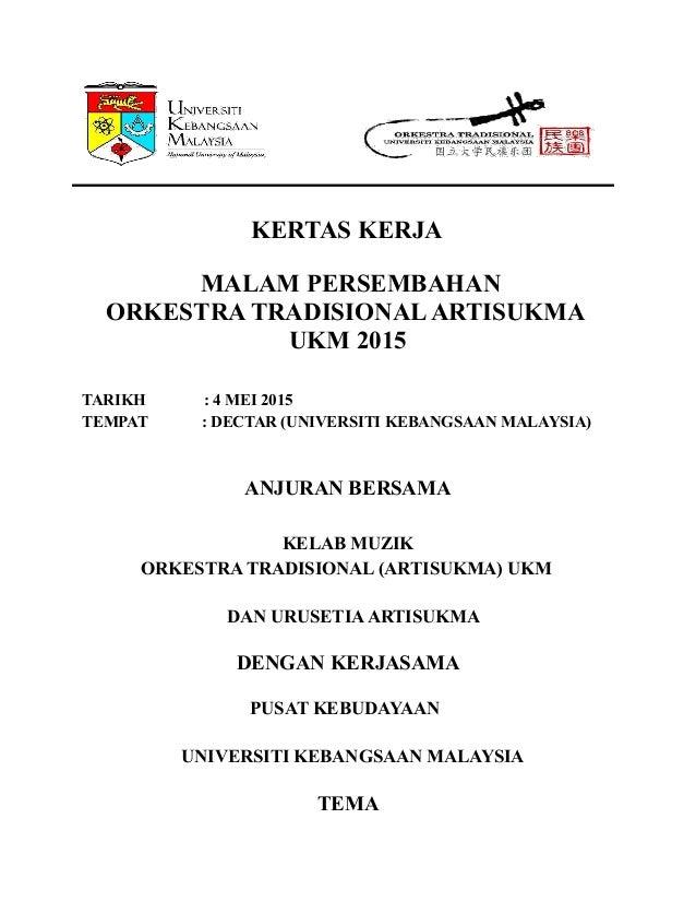 Kertas Kerja Orkestra Traditional Ukm