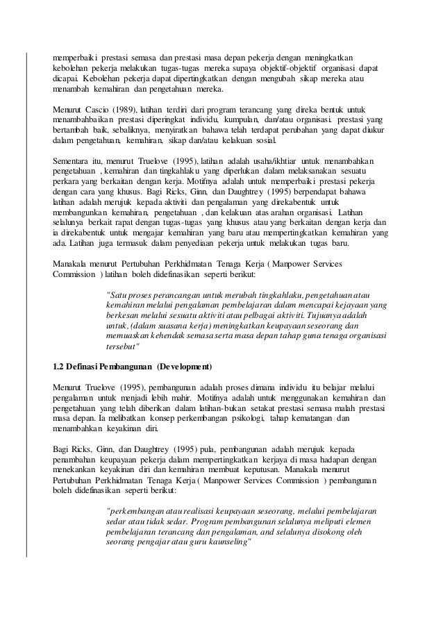 Kertas kerja pengurusan sumber manusia Slide 2