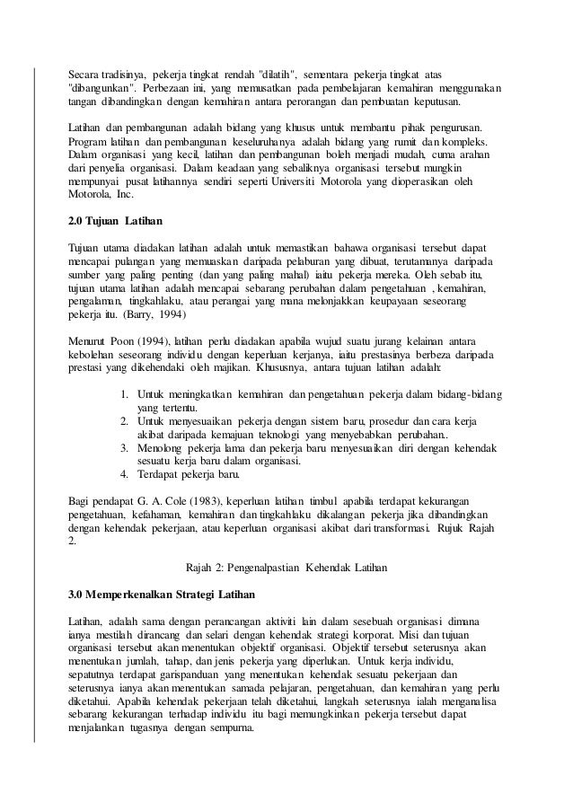 Kertas kerja pengurusan sumber manusia Slide 3