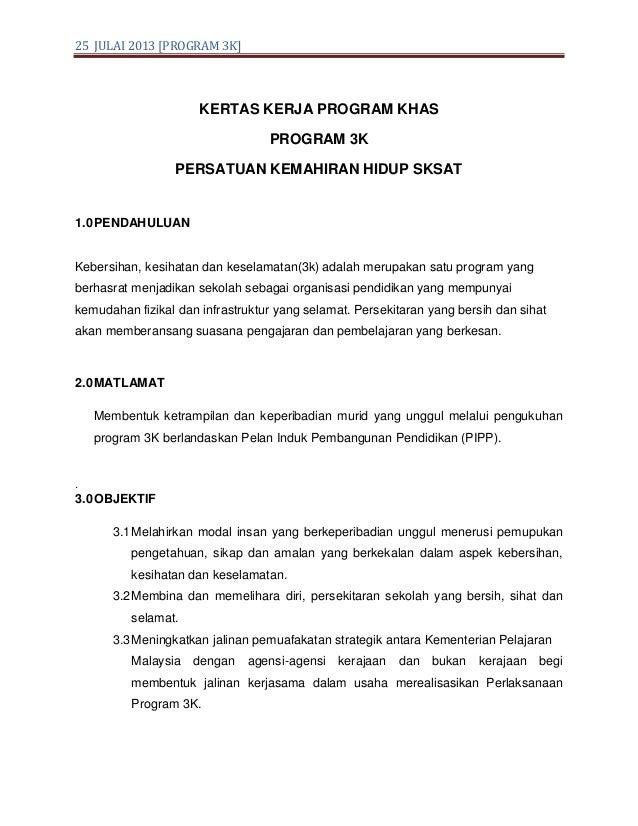 Kertas Kerja Program 3k