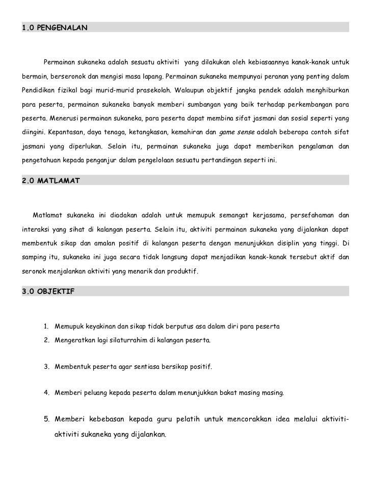 Kertas Kerja Sukaneka Prasekolah Sekolah Kebangsaan Sungai Pelong