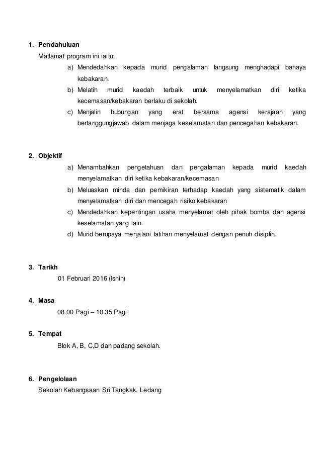 Kertas Kerja Lampiran Surat Latihan Kebakaran Bersama Bomba Skst 20