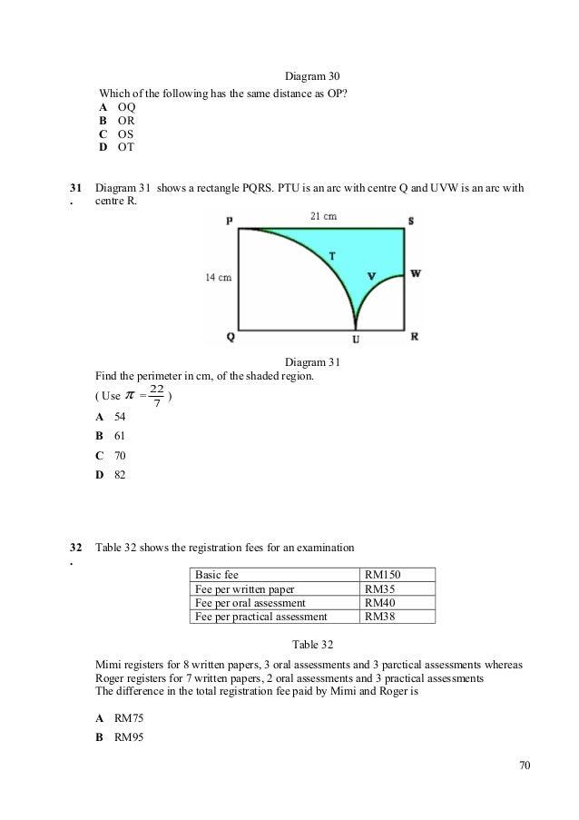 Kertas model pep sebenar pmr diagram 30 which of the following ccuart Images