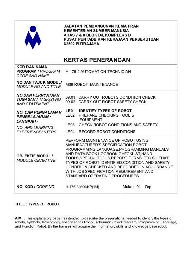 JABATAN PEMBANGUNAN KEMAHIRAN                              KEMENTERIAN SUMBER MANUSIA                              ARAS 7 ...