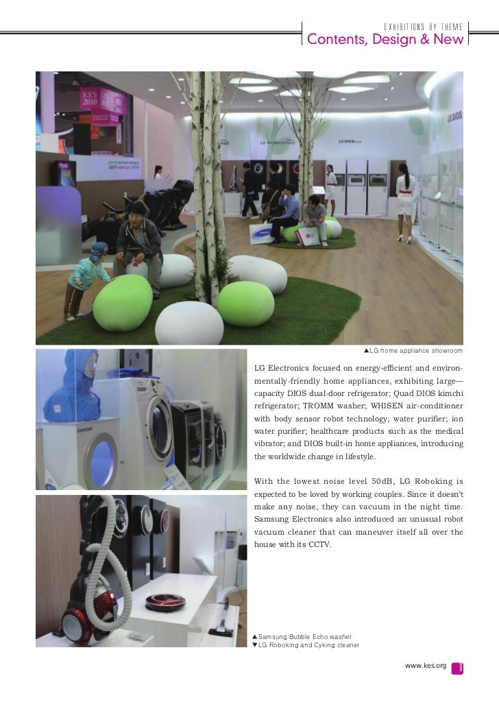 Exhibitions by Theme               Contents, Design & New                                  ▲LG home appliance showroomLG E...