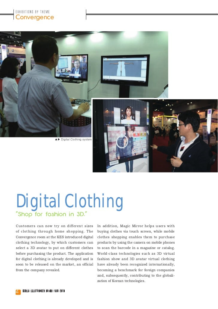 """Exhibitions by ThemeConvergence                             ▲▶ Digital Clothing systemDigital Clothing""""Shop for fashion in..."""
