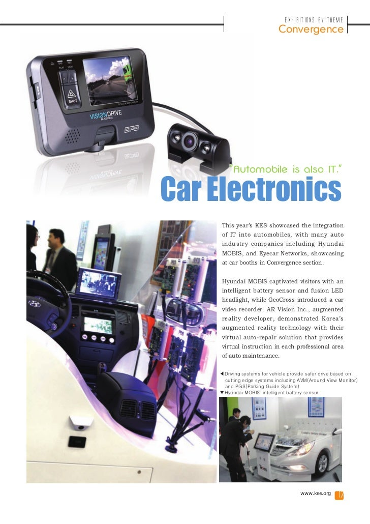 """Exhibitions by Theme                            Convergence        """"Automobile is also IT.""""Car Electronics     This year's..."""
