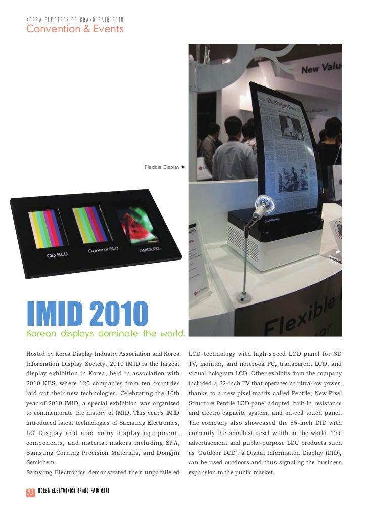 korea electronics grand fair 2010Convention & Events                                         Flexible Display ▶IMID 2010Ko...