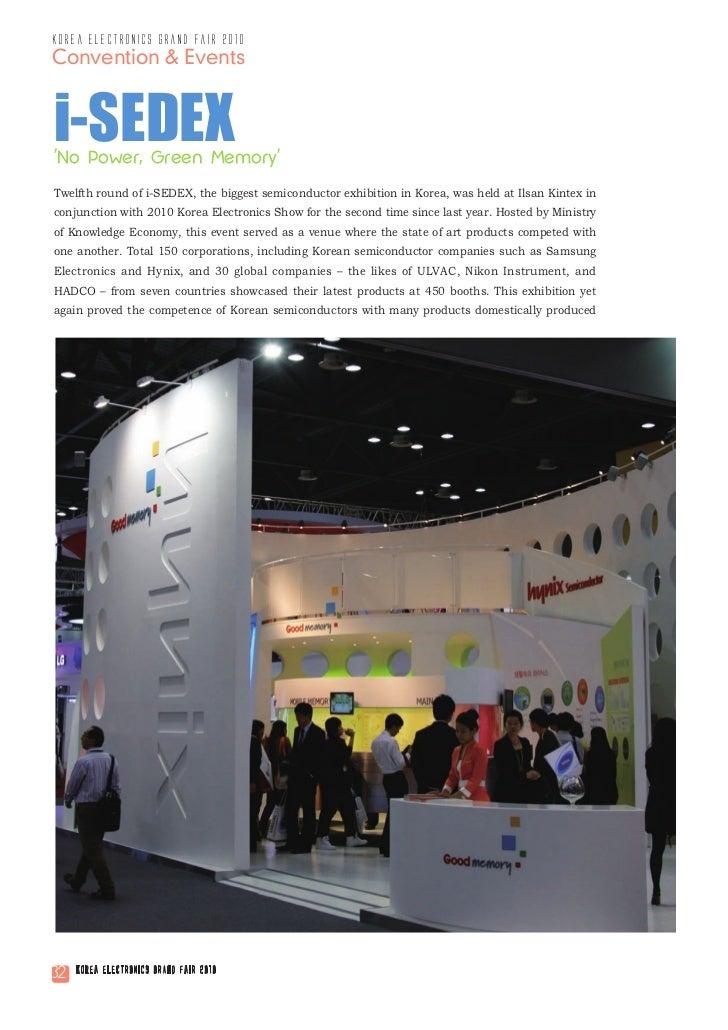 korea electronics grand fair 2010Convention & Eventsi-SEDEXNo Power, Green MemoryTwelfth round of i-SEDEX, the biggest sem...