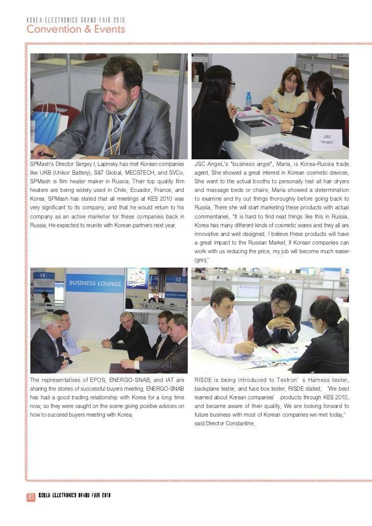 korea electronics grand fair 2010Convention & Events SPMashs Director Sergey I. Lapinsky has met Korean companies      JSC...