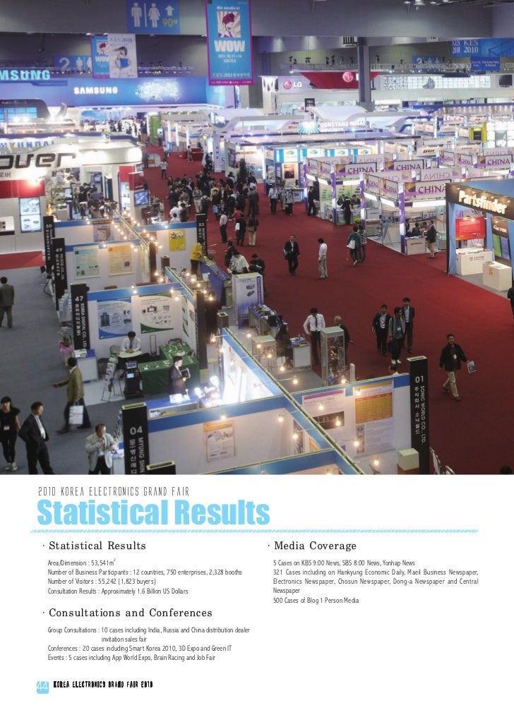 2010 Korea Electronics Grand FairStatistical Results·Statistical Results                                                  ...