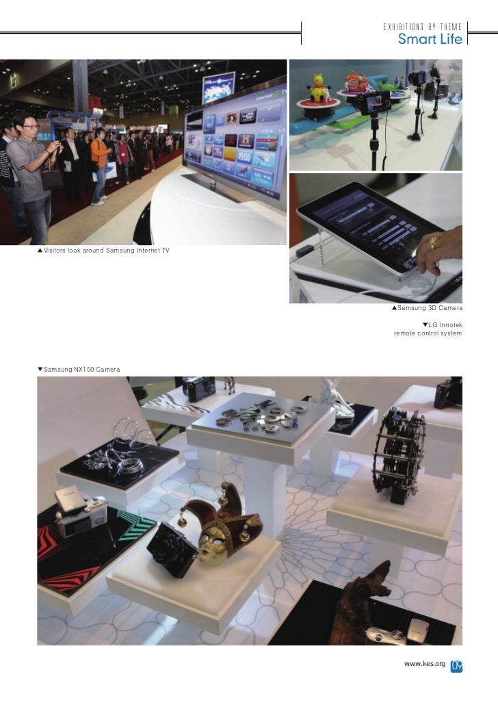 Exhibitions by Theme                                               Smart Life▲Visitors look around Samsung Internet TV    ...