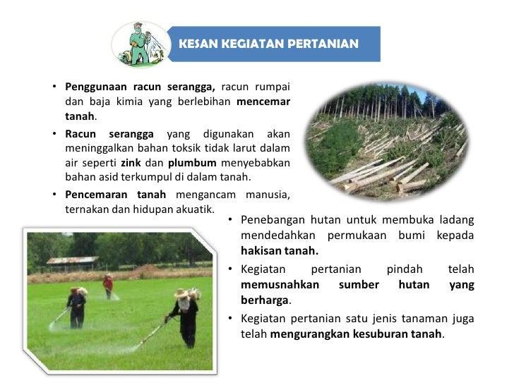 Kesan Kegiatan Manusia Terhadap Alam Sekitar