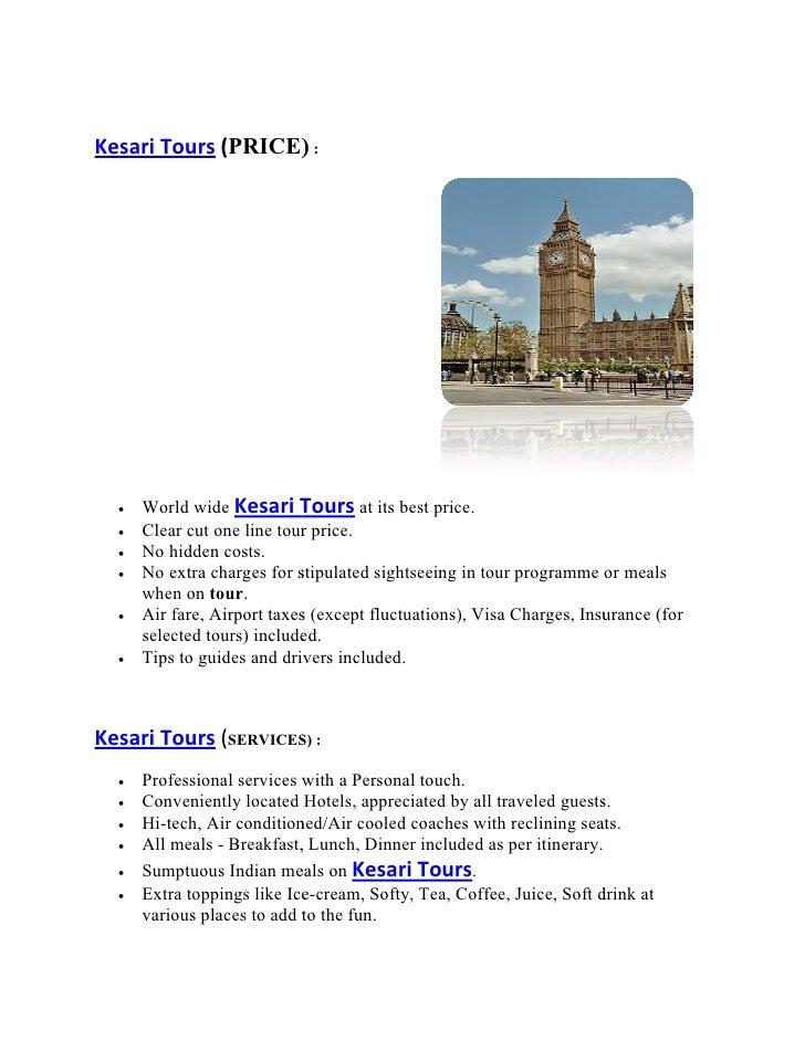 Kesari Travels Honeymoon Packages