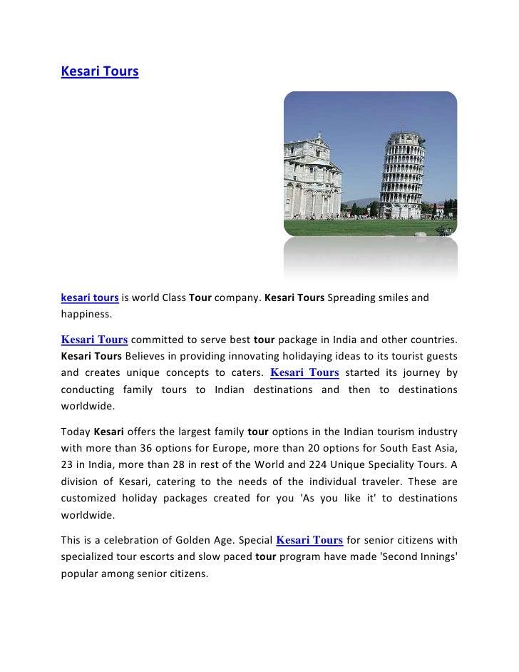 Kesari Tours N Travels