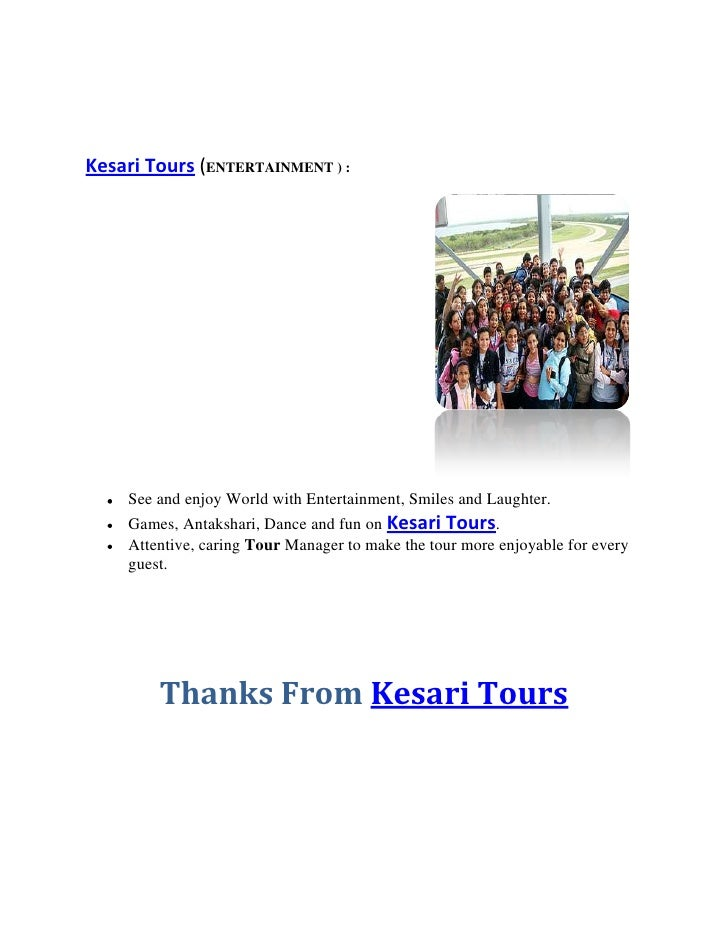 Kesari Tours And Travels Course