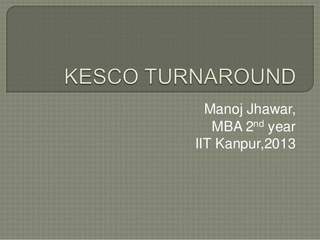 Manoj Jhawar, MBA 2nd year IIT Kanpur,2013