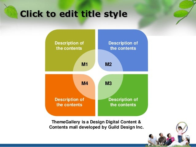 Click to edit title style  Description of  the contents  Description of  the contents  M1 M2  M4 M3  Description of  the c...