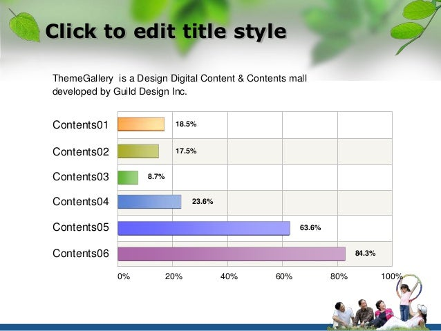 Click to edit title style  ThemeGallery is a Design Digital Content & Contents mall  developed by Guild Design Inc.  Conte...