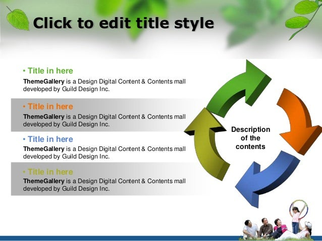 Click to edit title style  Description  of the  contents  • Title in here  ThemeGallery is a Design Digital Content & Cont...