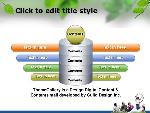 Click to edit title style  Contents  Text in here Text in here  Contents  Text in here Text in here  Contents  Text in her...