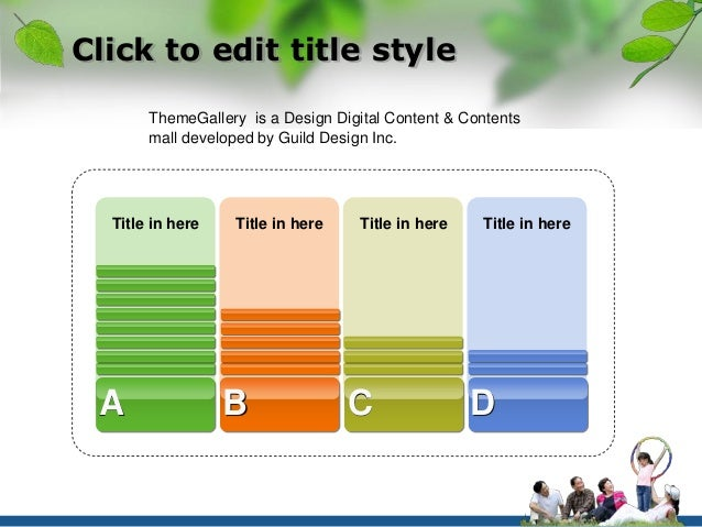 Click to edit title style  ThemeGallery is a Design Digital Content & Contents  mall developed by Guild Design Inc.  Title...