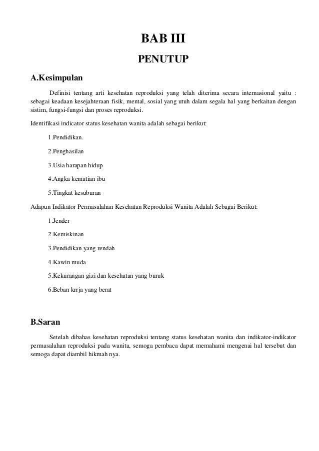 Contoh Artikel Kesehatan Reproduksi Wanita Arasmi