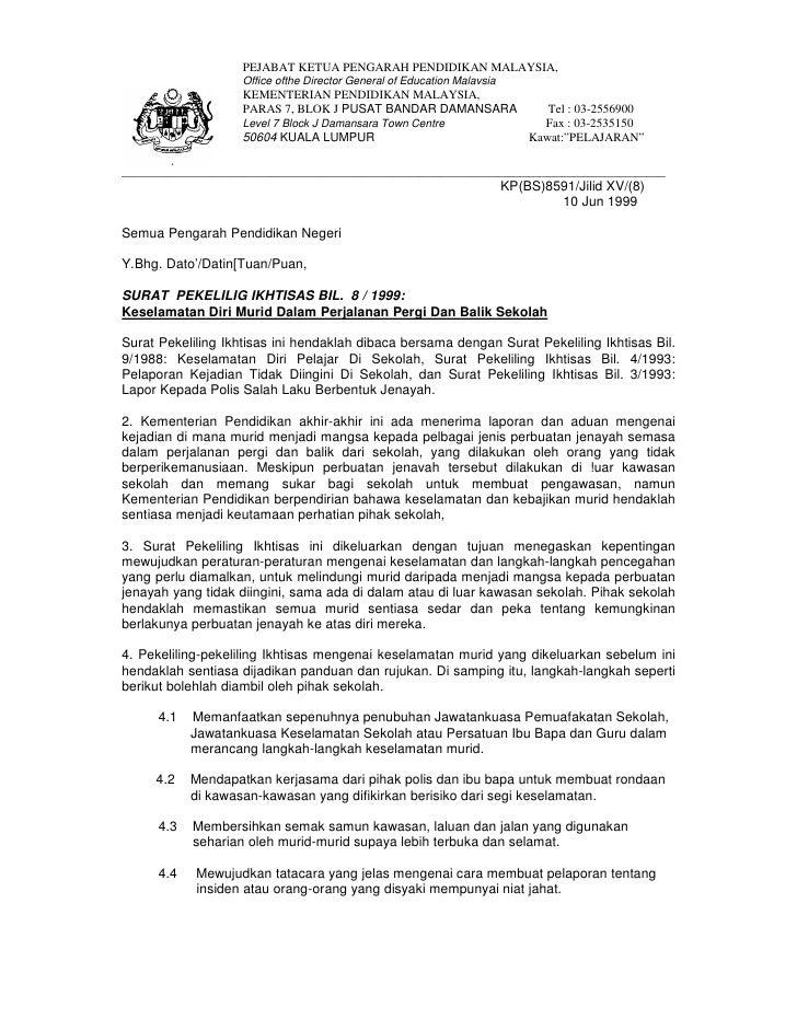 PEJABAT KETUA PENGARAH PENDIDIKAN MALAYSIA,                     Office ofthe Director General of Education Malavsia       ...