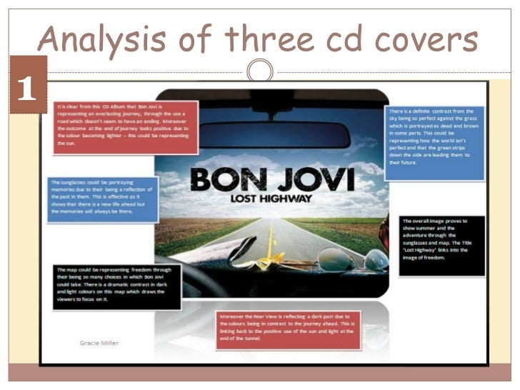Analysis of three cd covers<br />1<br />