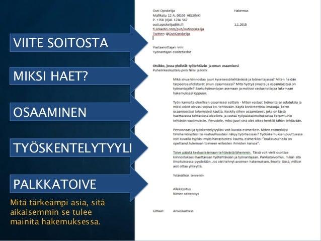 cv hakemus malli Kannushyvä avoin työhakemus Helsinki
