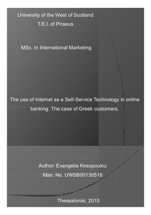 Master thesis internet banking