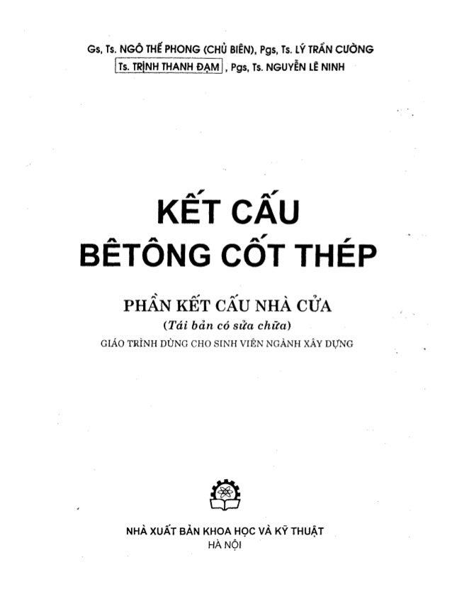 Kết cấu Bê tông cốt thép - Phần kết cấu nhà cửa - Ngô Thế Phong