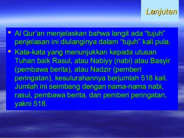 """LanjutanLanjutan  Al Qur'an menjelaskan bahwa langit ada """"tujuh""""Al Qur'an menjelaskan bahwa langit ada """"tujuh"""" penjelasan..."""