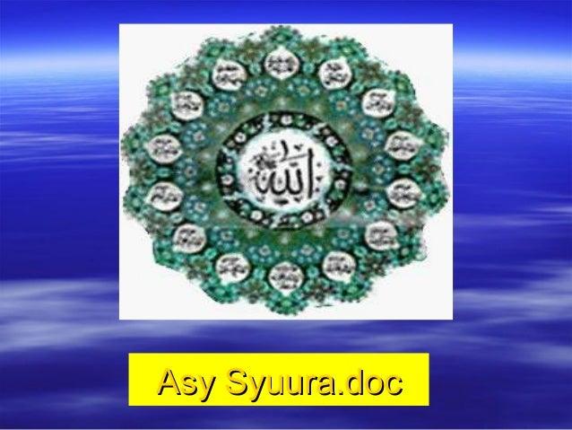 Asy Syuura.docAsy Syuura.doc