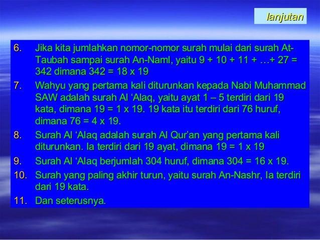 lanjutanlanjutan 6.6. Jika kita jumlahkan nomor-nomor surah mulai dari surah At-Jika kita jumlahkan nomor-nomor surah mula...