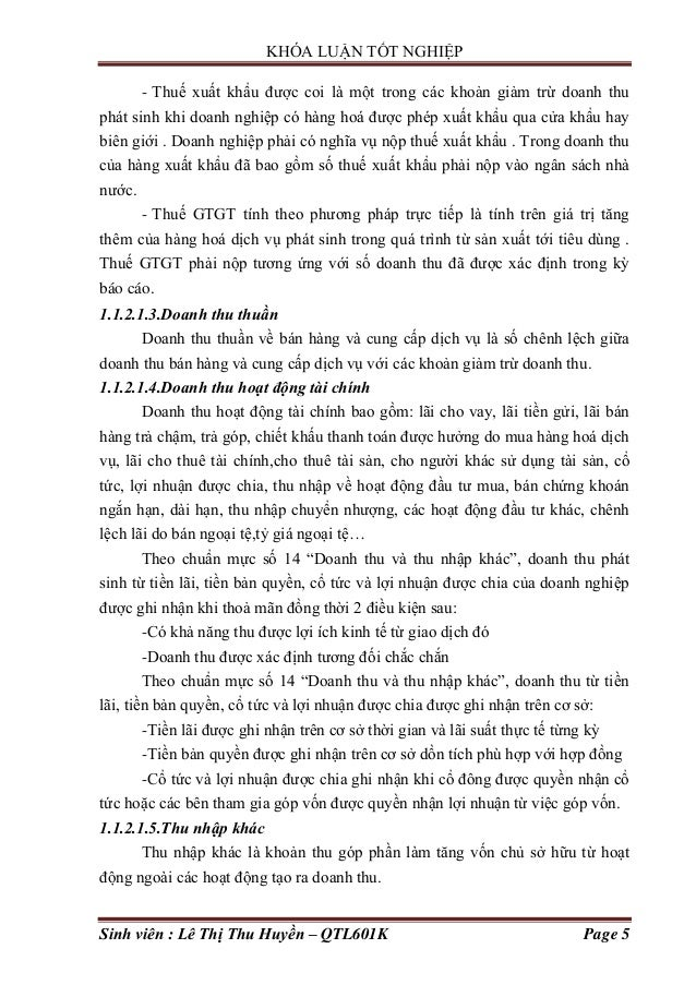 KHÓA LUẬN TỐT NGHIỆP Sinh viên : Lê Thị Thu Huyền – QTL601K Page 5 - Thuế xuất khẩu đƣợc coi là một trong các khoản giảm t...