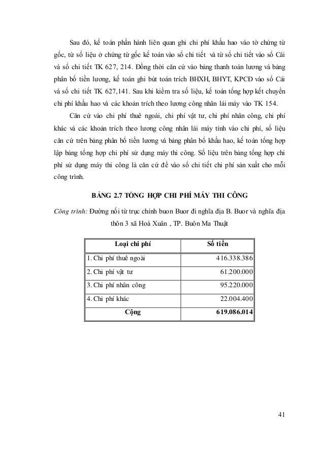 41 Sau đó, kế toán phần hành liên quan ghi chi phí khấu hao vào tờ chứng từ gốc, từ số liệu ở chứng từ gốc kế toán vào sổ ...