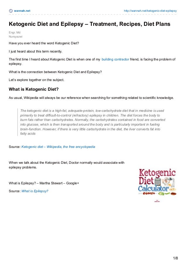 The ketogenic and related diets