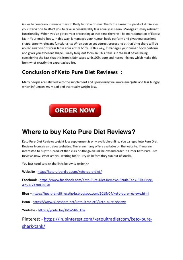 Keto Pure Diet Reviews