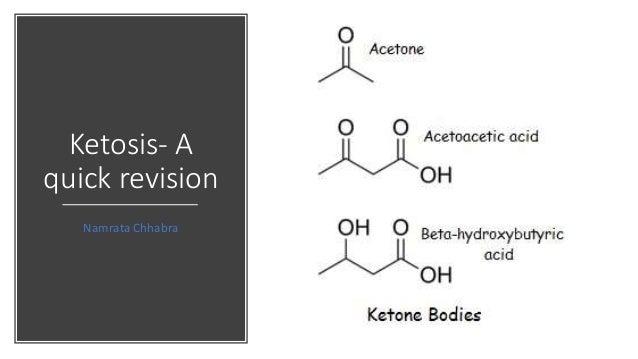 Ketosis- A quick revision Namrata Chhabra