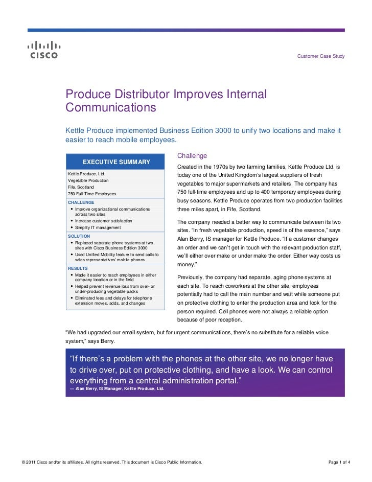 Customer Case Study                        Produce Distributor Improves Internal                        Communications    ...