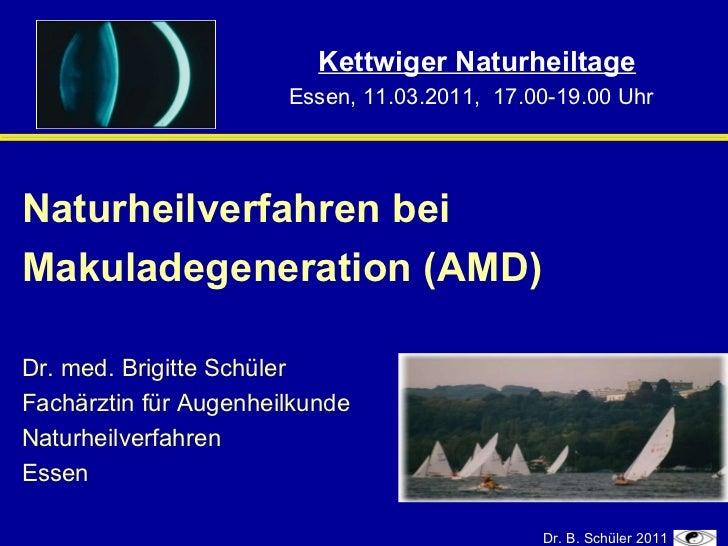 Kettwiger Naturheiltag: Makuladegeneration ganzheitlich behandeln