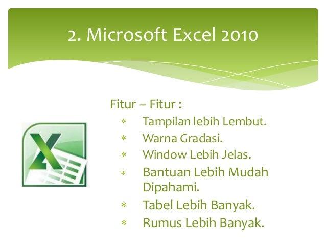 kelemahan dan kelebihan microsoft excel 2010