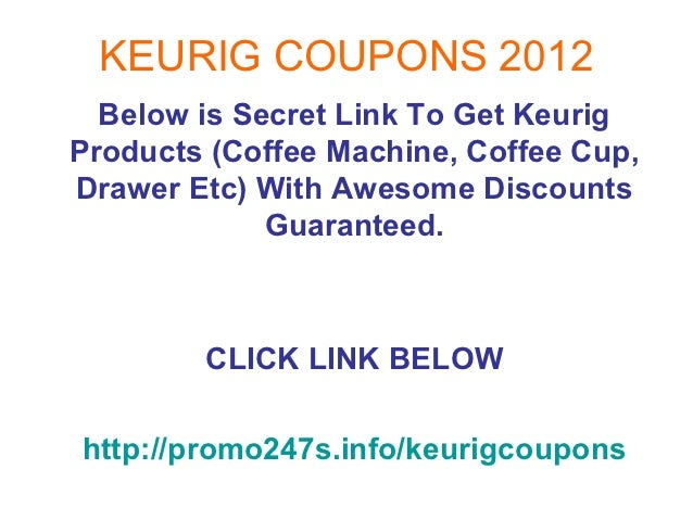 Coupon codes for keurig