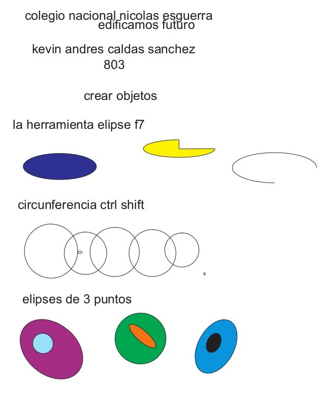 colegio nacional nicolas esguerra edificamos futuro kevin andres caldas sanchez 803 crear objetos la herramienta elipse f7...