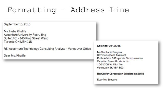 Formatting   Address Line; 29.
