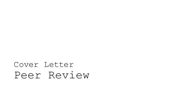 cover letter peer review. Resume Example. Resume CV Cover Letter