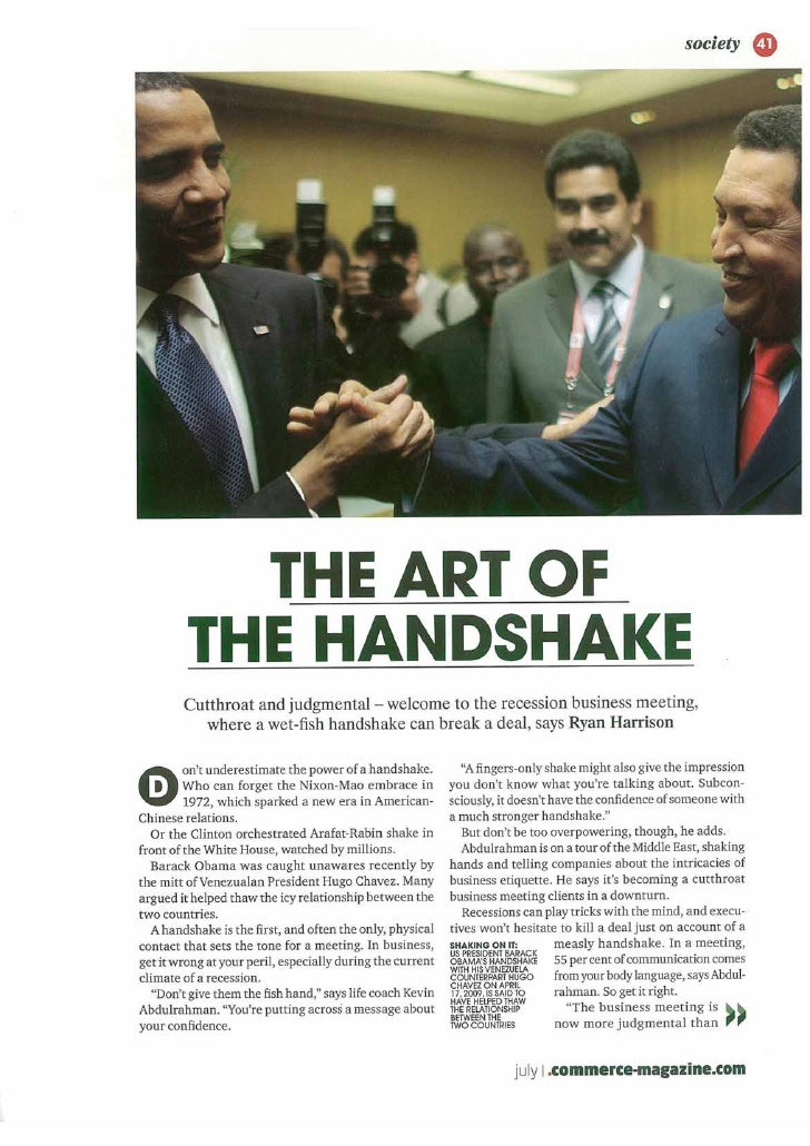 Kevin abdulrahman  the art of the handshake
