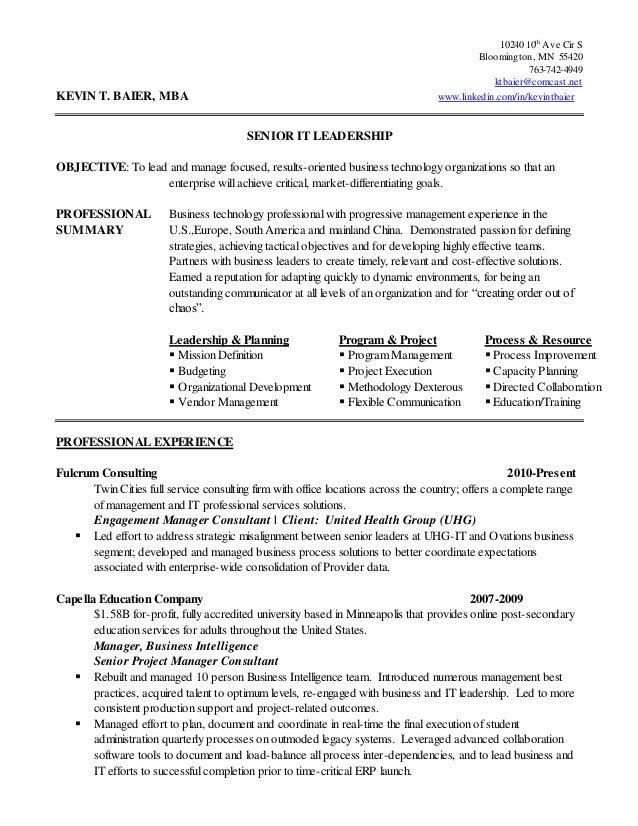 kevin baier chronological resume 2010 10 26